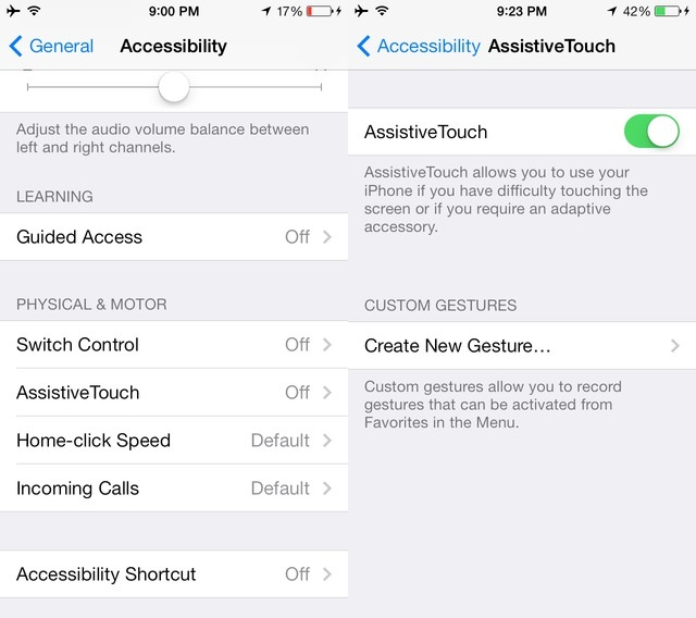 Assistive Touch on iPhone
