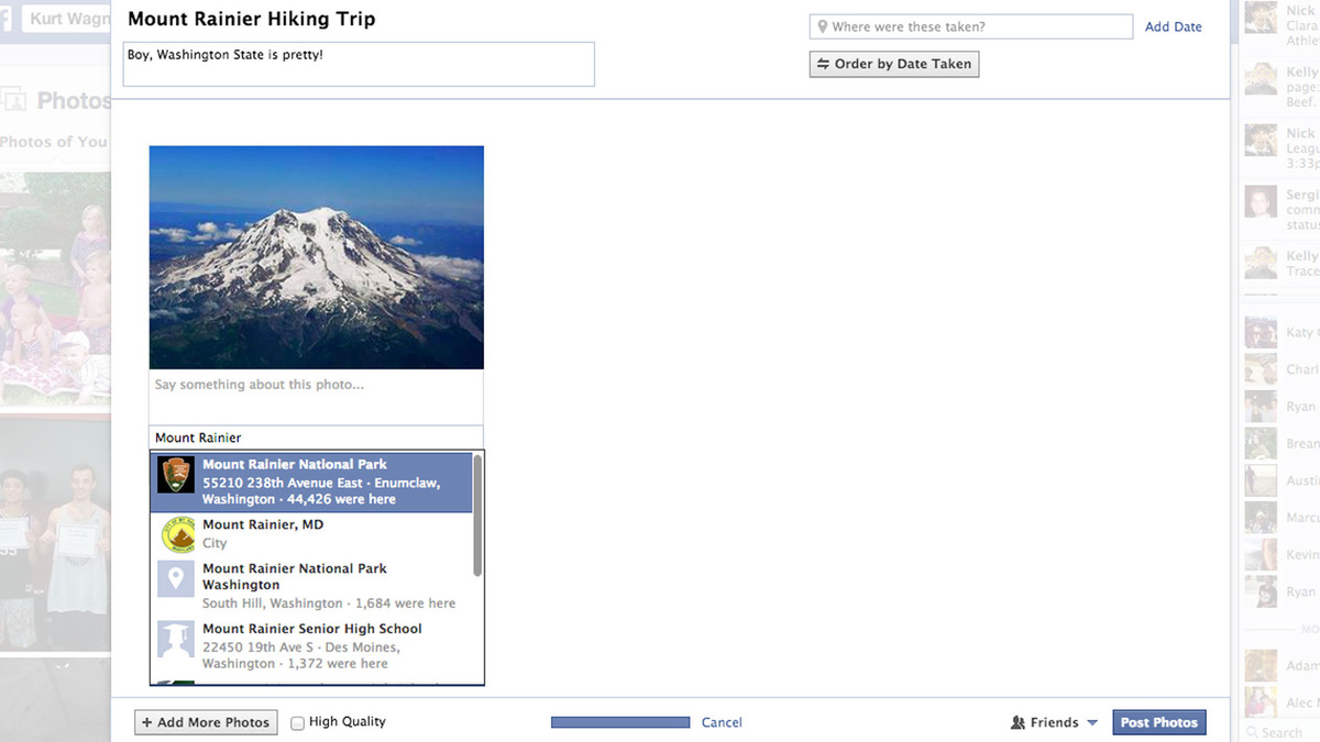 Facebook Shared Photo album Tutorial - 1
