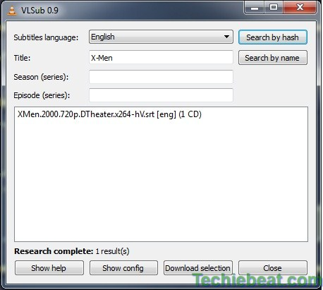 VLC Media Player -VLC SUB Extenstion 2 Techiebeat