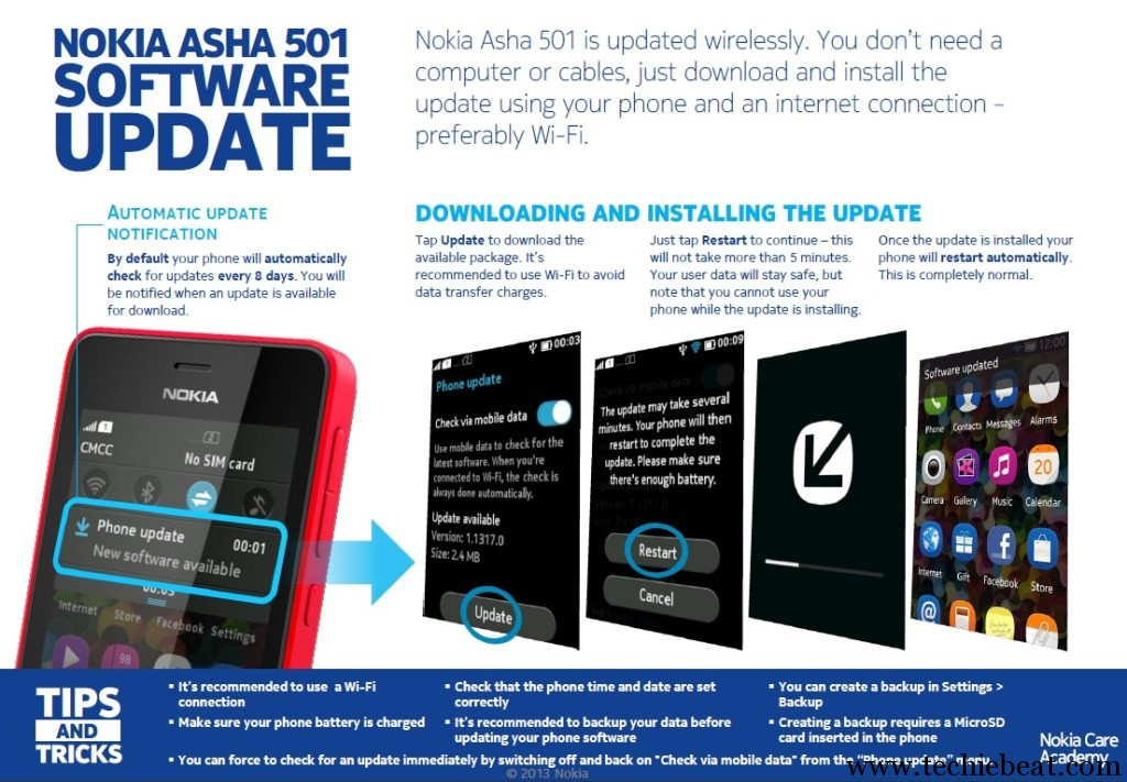Nokia Asha 501 Software Update